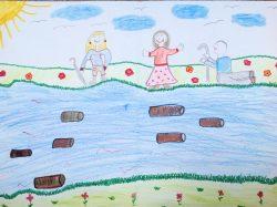 """""""Schultag 2015"""", Zeichnung von Emily Gruhle, Grundschule Tollwitz, Foto: Förderverein Elsterfloßgraben"""