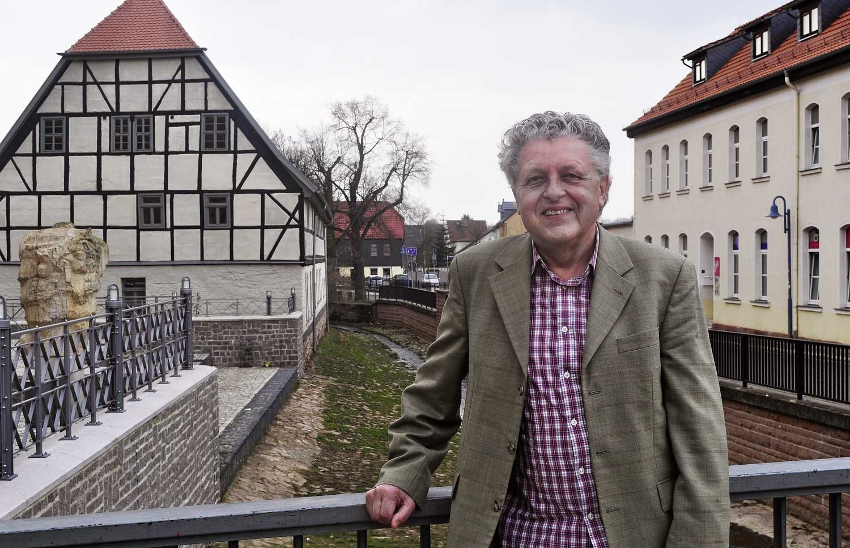 Helmut Qual in seiner Heimatstadt Sangerhausen, Foto: John Palatini
