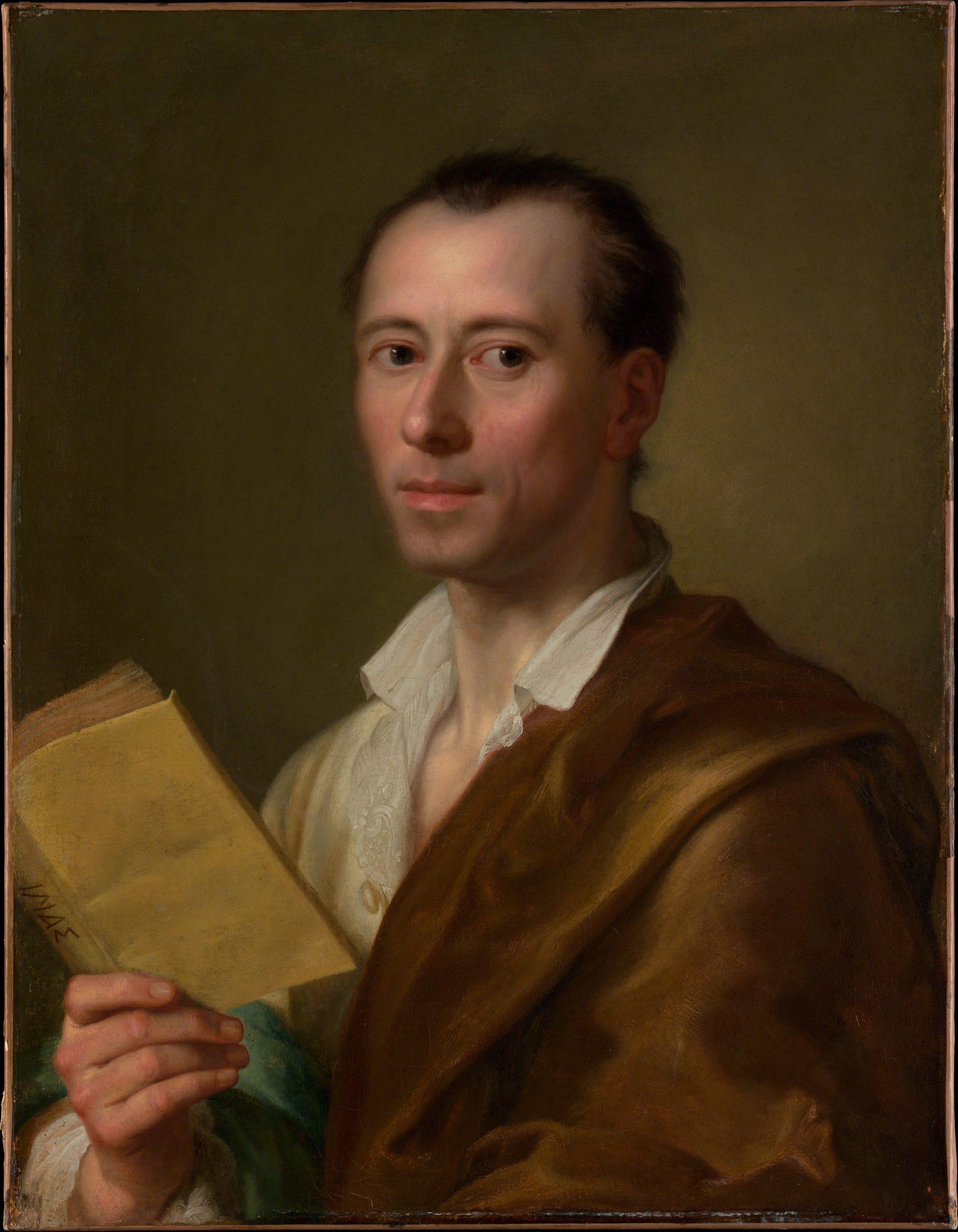 Porträt Winckelmanns von Anton Raphael Mengs, 1755, Bild: Metropolitan Museum of Art, online collection, CC0 1.0 Universal, https://creativecommons.org/publicdomain/zero/1.0/legalcode