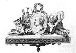 """Titelkupfer der 2. Auflage der """"Geschichte der Kunst des Alterthums"""" von 1776, Bild (Ausschnitt): Winckelmann-Museum Stendal auf www.museum-digital.de, Lizenz: CC BY-NC-SA, https://creativecommons.org/licenses/by-nc-sa/3.0/de/"""