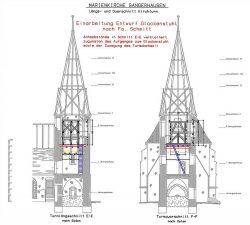 Planung Glockenstuhl 2016,  Büro Hermanns, Bleicherode