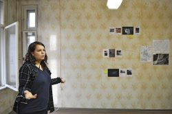 Michelle Jekel präsentiert ihre Arbeit #schützenplatz, Foto: J. Palatini