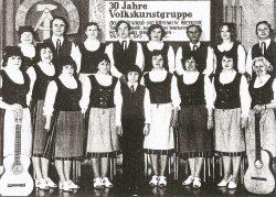Der Chor der Volkskunstgruppe Harzgerode im Jahr 1980. Foto: Sammlung Loch