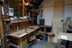 Im Atelier von Inga Becker, Halle (Saale), Ateliergemeinschaft kunstrichtungtrotha; Foto: Ruth Heftrig
