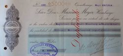 Einzahlungsbeleg über 5.000Mark für die zu errichtende AdolfMeyer-Stiftung an den Magistrat der Stadt Nienburg vom 29.Mai1914; Stadtarchiv Nienburg
