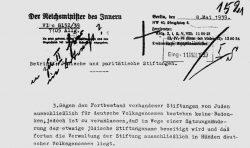 Runderlass des Reichsministers des Inneren, 8. Mai 1939 (Auszug); Landesarchiv Sachsen-Anhalt