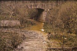 Im Ort Rübeland beginnt mit dem Einlauf des kontaminierten Mühlenbachs die Verunreinigung der Bode; Foto: H. Scheffler