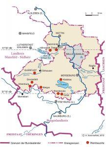 Weinbauorte im Saalekreis in Sachsen-Anhalt; H. Sommerfeld 2012