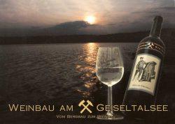 """Post- und Werbekarte """"Weinbau am Geiseltalsee"""", Foto: Privatbesitz Toni Hannig"""
