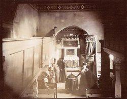 Das Innere der Eisdorfer Kirche auf einer Fotokarte von 1902, Foto: Archiv Mike Leske