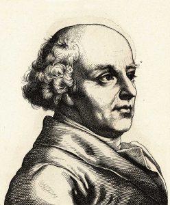 Samuel Hahnemann (1755–1843), Holzschnitt um 1860, Sammlung Walter Müller