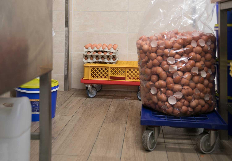 Eierschalen vom Teiganmachen für Salzwedeler Baumkuchen; Foto: behnelux