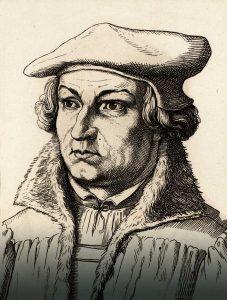 Justus Jonas (1493-1555), Holzschnitt um 1860, Sammlung Walter Müller