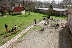 Arbeiten am Architekturpark. Foto: NAG e. V.