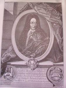 Porträt von Freiherr Carl Hildebrand von Canstein, nach einem Kupferstich aus der Zeit um 1730, Archiv W. Müller