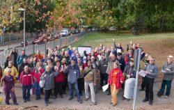 Zufriedene Teilnehmerinnen und Teilnehmer beim Gartenträume-Parkseminar 2018 in Mücheln (Geiseltal); Foto: Gartenträume– Sachsen-Anhalte.V.