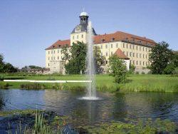 Blick auf Schloss Moritzburg in Zeitz; Foto: Gartenträume–  Sachsen-Anhalt e.V.