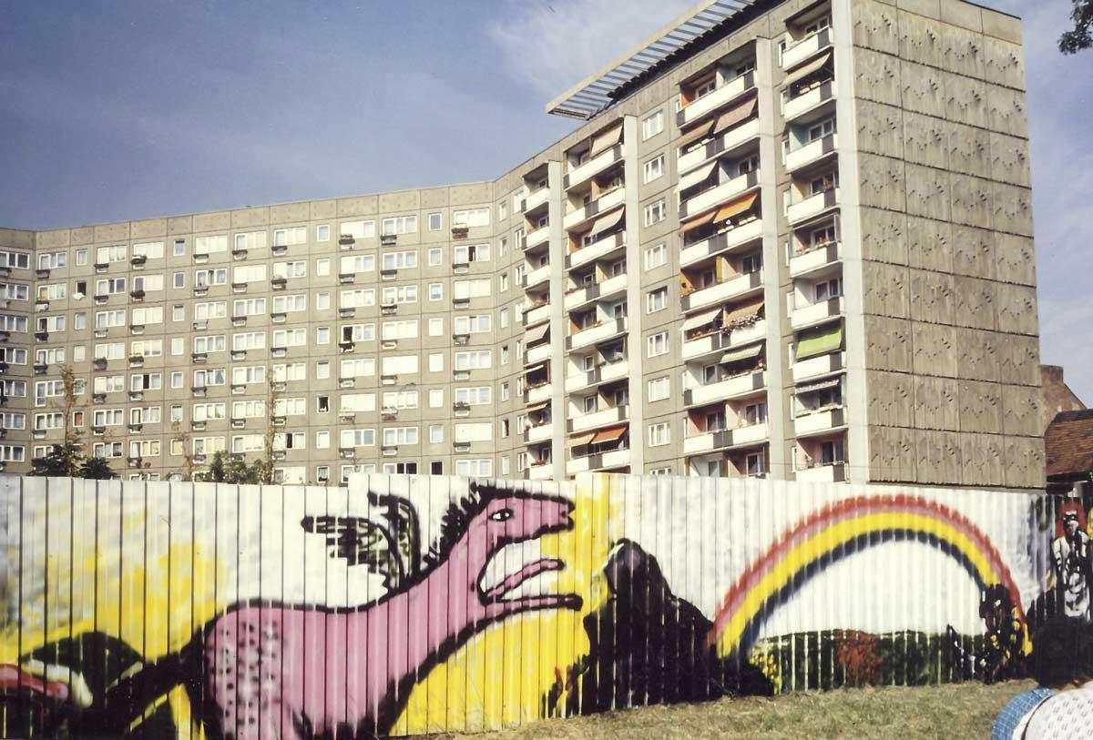 Erfurter gegensätze 1989, Foto: Carsten Passin