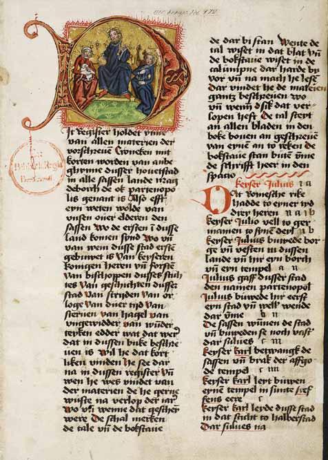 Schöppenchronik: Die Magdeburger Schöppenchronik. Staatsbibliothek Berlin, Ms. boruss. fol. 172, Bl. 1r