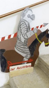 Hinweis auf die Ausstellung im Schloss Beichlingen. Foto: Heike Böcking