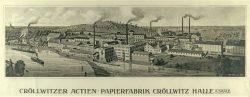 Die Cröllwitzer Actien-Papierfabrik, um 1900 (Stadtarchiv Halle).
