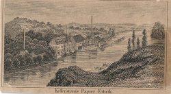Blick über die Saale auf die Papierfabrik, Mitte des 19.Jahrhunderts (Stadtarchiv  Halle).