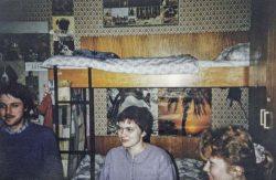 Internatszimmer in der Straße des 18. Oktober in Leipzig, 2. Studienjahr, 1987. Foto: Karin Reglich privat.
