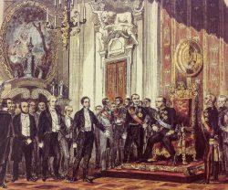 Kaiserdeputation vor dem preußischen König, 3. April 1849., unbekannter Urheber. https://t1p.de/ovnm