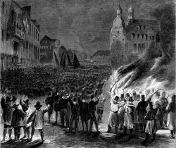 Bergmännische Aufwartung mit Peitschenkonzert beim Bergfeste zu Clausthal 1864. Holzstich nach Geißler, 1864. eproduktion Archiv L. Wille