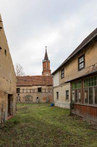 Pfarrhof Mehringen. Foto: Matthias Behne, lautwieleise Halle