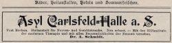 Anzeige nach 1905 von Dr. med. Alexander Schmidt (Sammlung, B. Berger)