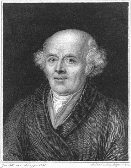Dr. Samuel Hahnemann (1755 – 1843) Gemahlt von Schoppe 1831. Stahlstich v. Leop. Beyer in Wien. https://t1p.de/wmhr
