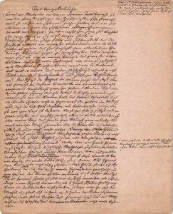 Pastor Krügers Aufzeichnungen zu Totenbräuchen; Foto: Archiv Danneil-Museum