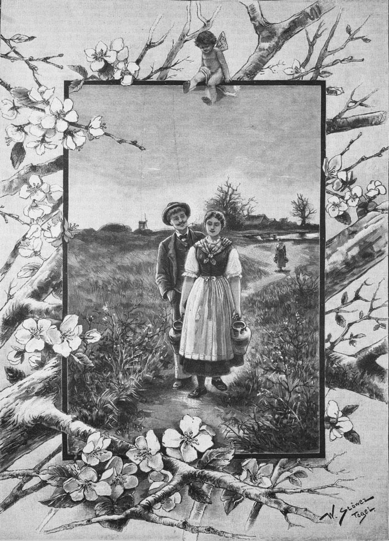 """""""Der Gang nach dem Osterwasser. Originalzeichnung von W. Stöwer."""" Die Gartenlaube, Leipzig 1893. https://commons.wikimedia.org/wiki/File:Die_Gartenlaube_(1893)_b_197.jpg"""
