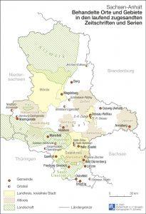 Sachsen-Anhalt: Behandelte Orte und Gebiete in den laufend zugesandten Zeitschriften und Serien. IfL 2020, H.P. Brogiato, R. Schwarz