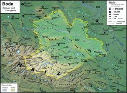 Einzugs- und Flussgebietskarte Bode. Wikimedia Commons, https://t1p.de/hz23