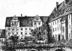 Gebäude 1830er vor Umbau zur Kaserne. Foto: Archiv Leucorea
