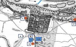 Bild 3: Kartografische Darstellung nach 1812 mit Eintragung späterer Mühlen. Geschichtsblätter für Stadt und Land  Magdeburg. Mitteilungen des Vereins für  Geschichte und Altertumskunde des  Herzogtums und Erzstifts Magdeburg  (GbllMagd), Bd. 1, 1866 – Bd. 74/75,  1939/41.