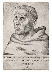 Martin Luther (Lucas Cranach der Ältere 1520); Wikipedia gemeinfrei