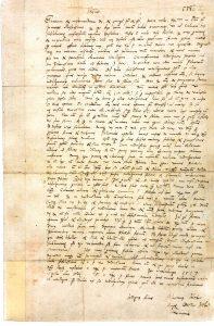 Faksimile des Briefes Luthers an Albrecht von Brandenburg vom 31.10.1517 aus Riksarkivet Sverige (mit Genehmigung des Schwedischen Reichsarchivs in Stockholm)