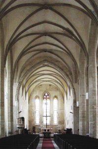 St.-Stephani-Hallenkirche Calbe, Blick nach Osten, Foto: H.-D. Steinmetz