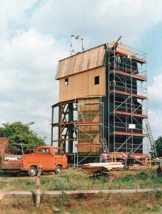 Bild 12: Etappen des Wiederaufbaus vom 28.06. bis 08.09.1993; Foto: T. Neitzel