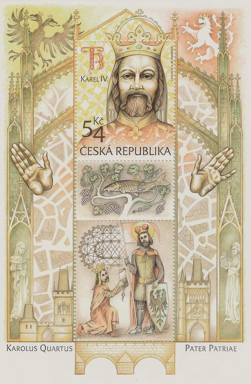 Briefmarke, Tschechiche Republik, Foto: H. Sommerfeld