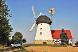 Bild 8: Turmwindmühle mit VD-Flügeln in Suxdorf bei Bockwitz bei Zeitz; H. Bergmann, Köthen