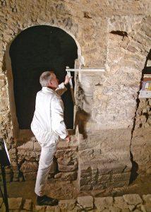 Bauforschung im Kloster Wendhusen. Foto: Heinz A. Behrens