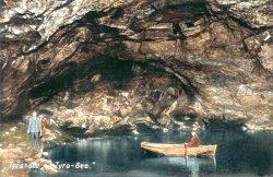 Tyra-Halle mit Tyra-See, 1920er Jahre; Archiv der Höhle Heimkehle