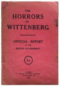 """Umschlag von """"The Horrors of Wittenberg"""", London 1916. Privatbesitz"""
