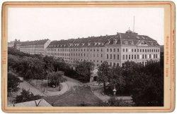 Ansicht der Franckeschen Stiftungen 1894, Kabinettfoto 1894. Sammlung Dr. Walter Müller