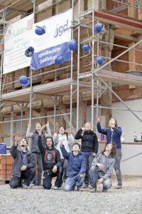 Mai 2015 Seminar, Arbeiten an der Historischen Fassade Gleimhaus Halberstadt, Foto: Henrik Bollmann (AWZ gGmBH Halberstadt)