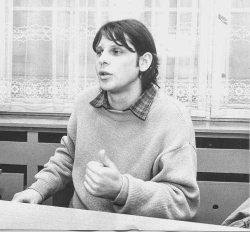 """Carsten Passin 1990 beim Interview für """"Das Volk"""", Foto: privat"""
